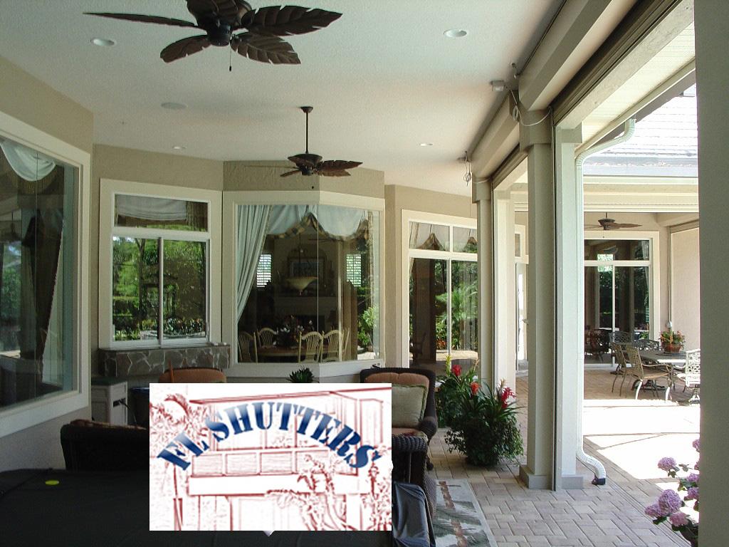 Porch Roll Up Hurricane Shutter