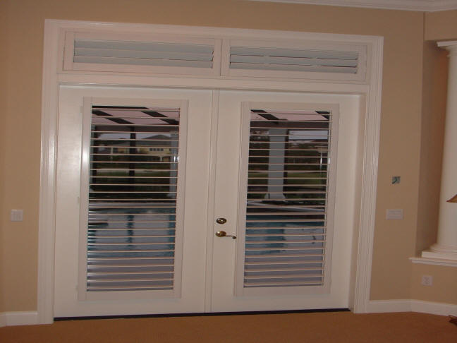 Plantation Shutters Look Great On French Doors. The Picture Above Features  Our Exclusive Ultra Clear Plantation Shutters. We Have Totally Eliminated  The ...