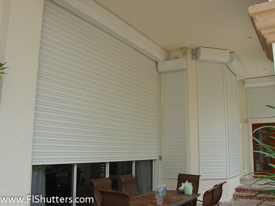 Rolling Hurricane Security Shutters Roll Down Security