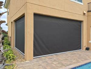 retractable exterior solar screen