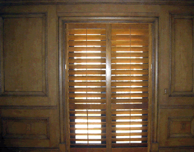 Plantation shutters motorized hurricane security shutters - Electric window shutters interior ...