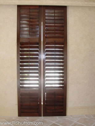 custom wood sliding shutter