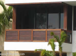 exterior teak sliding stucking shutter